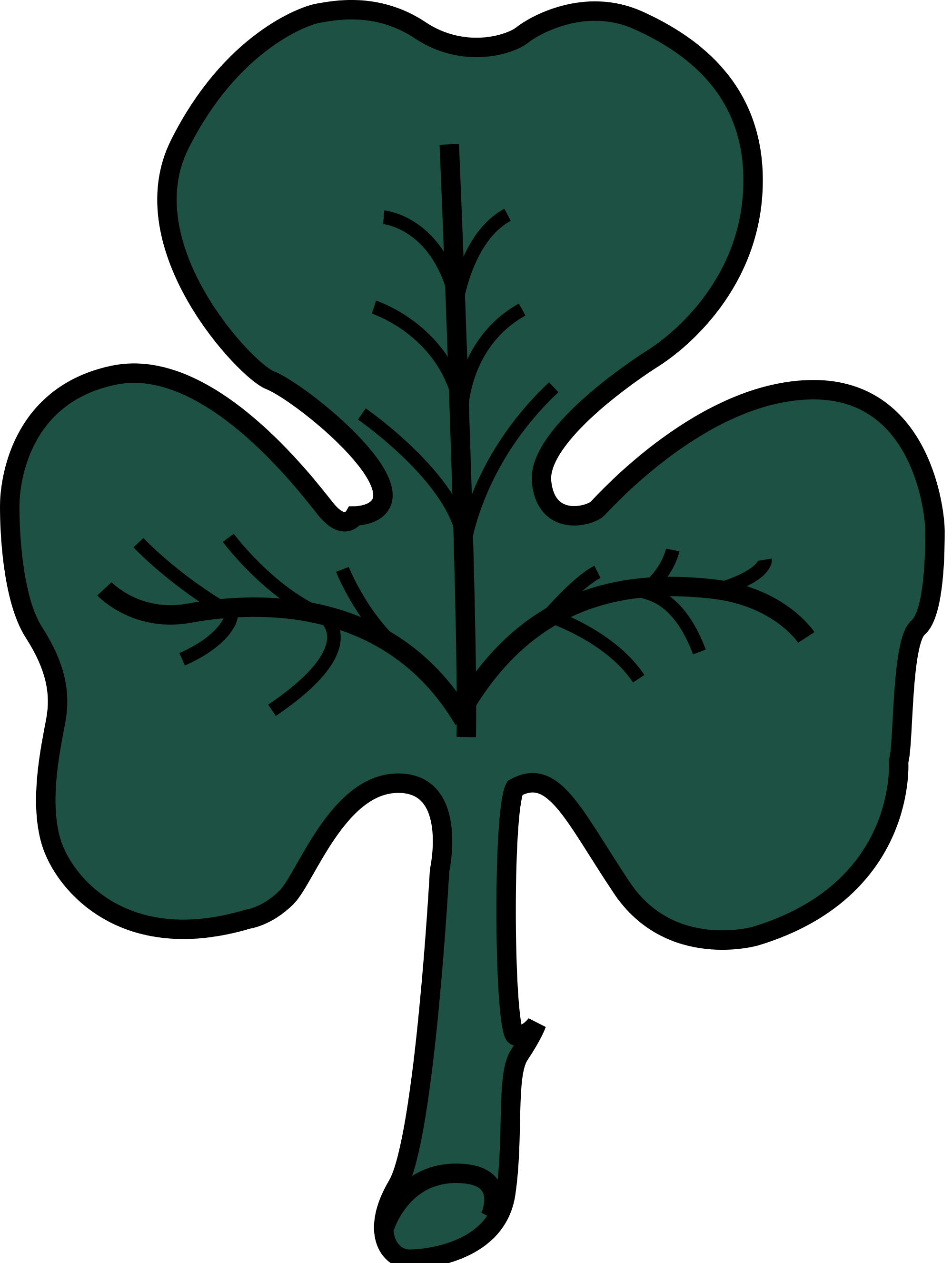 Green cross clipart png royalty free download File:Shamrock (Flag of Montreal).svg - Wikimedia Commons png royalty free download