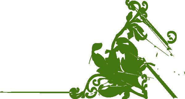 Green decorative clipart banner free Decorative Flower Corner Green Clip Art at Clker.com - vector clip ... banner free