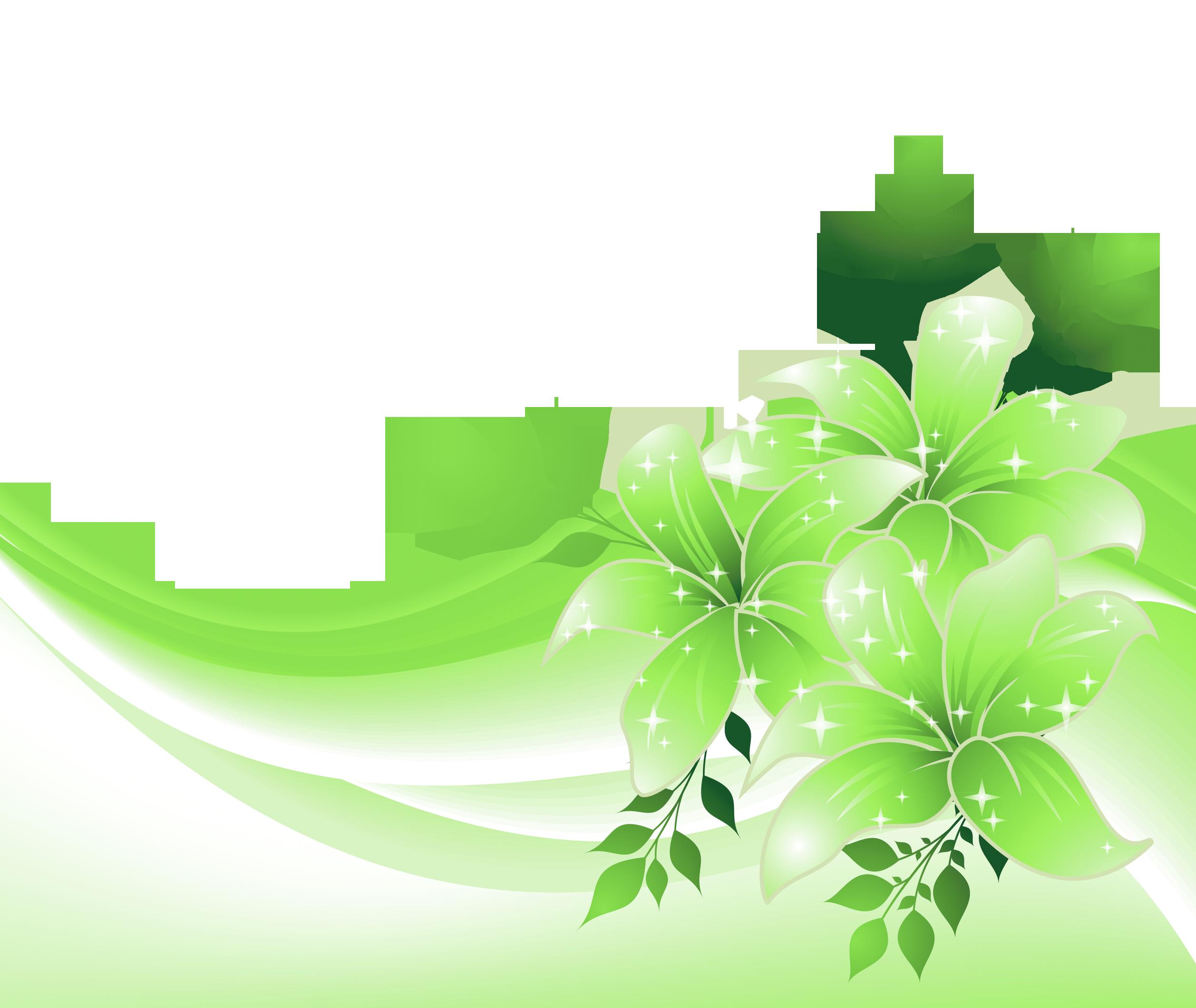 Green decorative clipart jpg transparent stock Green Decoration with Flowers PNG Transparent Clipart   Gallery ... jpg transparent stock