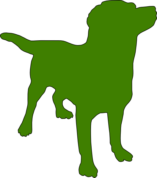 Green dog clipart banner free library Green Dog Silhouette Clip Art at Clker.com - vector clip art online ... banner free library