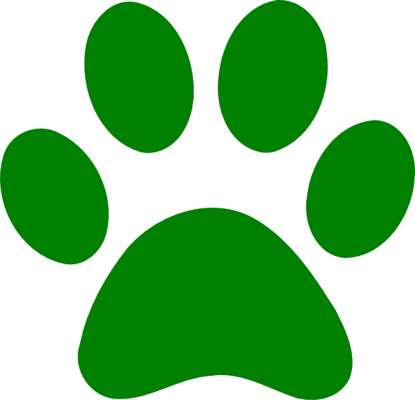 Green dog clipart picture library Green Paw Clip Art at Clker.com - vector clip art online, royalty ... picture library