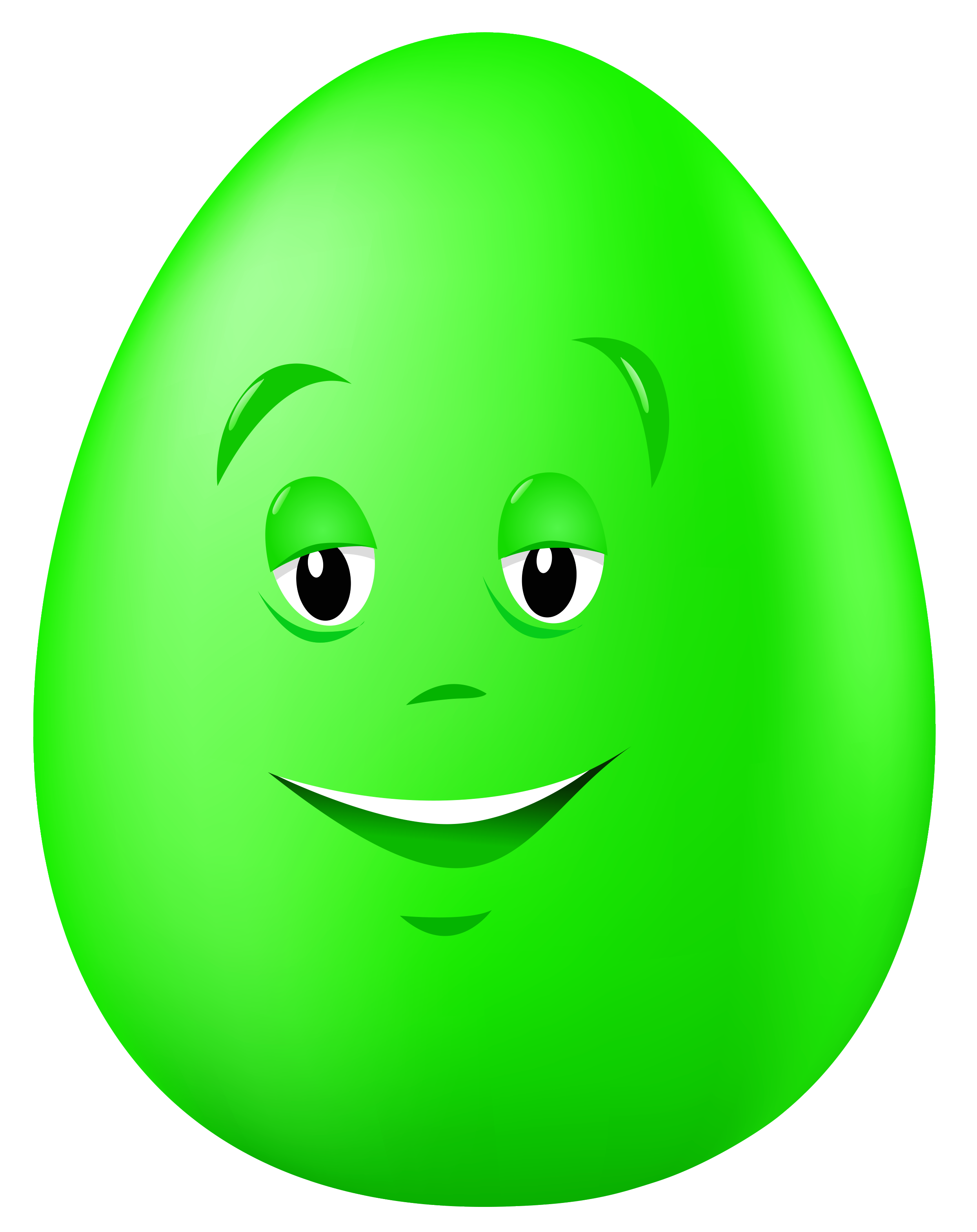 Green egg clipart clip library library Transparent Easter Green Egg with Face PNG Clipart Picture ... clip library library