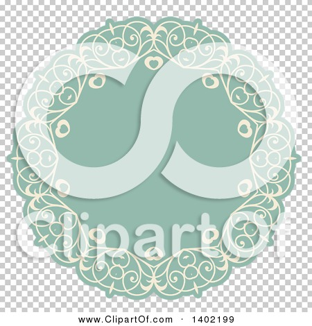 Green fancy hearts clipart clip transparent download Clipart of a Beige and Turquoise Fancy Round Label Design Element ... clip transparent download