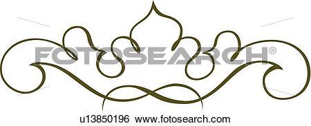 Green fancy line clipart vector download Clip Art of Green fancy line art u13850196 - Search Clipart ... vector download