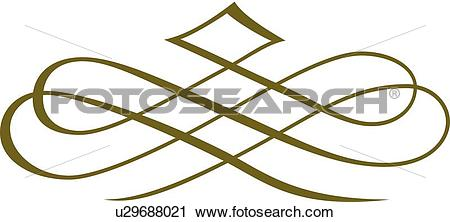 Green fancy line clipart image royalty free download Clipart of Green fancy loops u29688021 - Search Clip Art ... image royalty free download