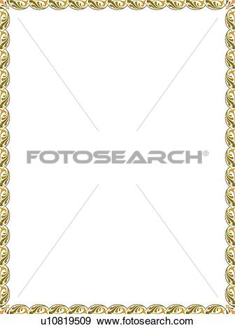 Green fancy line clipart banner freeuse library Clip Art of Green and Gold Fancy Border u10819509 - Search Clipart ... banner freeuse library