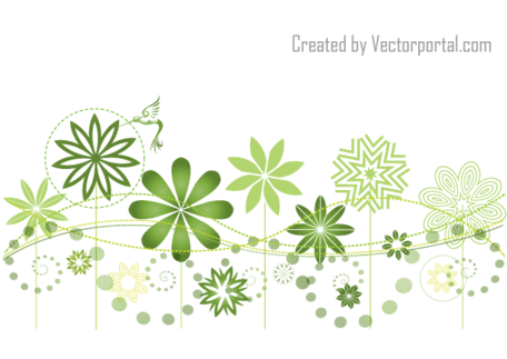 Green flower bed clipart png graphic library library Abstract Floral Garden Vector Background Design, Vector File ... graphic library library