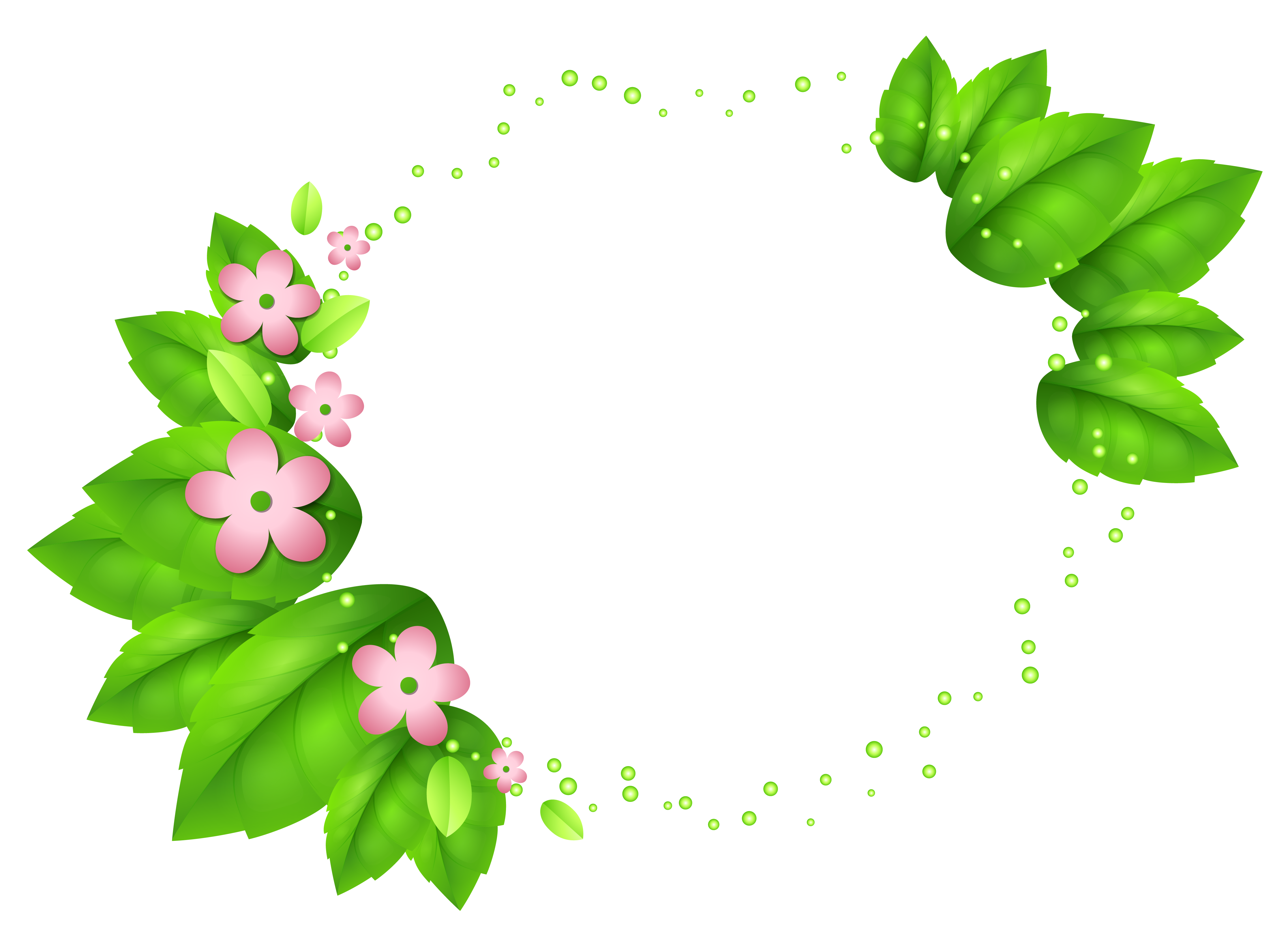 Ivy flower clipart image transparent Green Spring Decor with Pink Flowers | Gallery Yopriceville - High ... image transparent