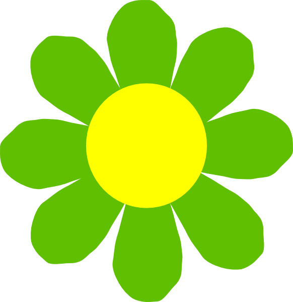 Green flower clipart image library stock Green Flower Clip Art at Clker.com - vector clip art online, royalty ... image library stock