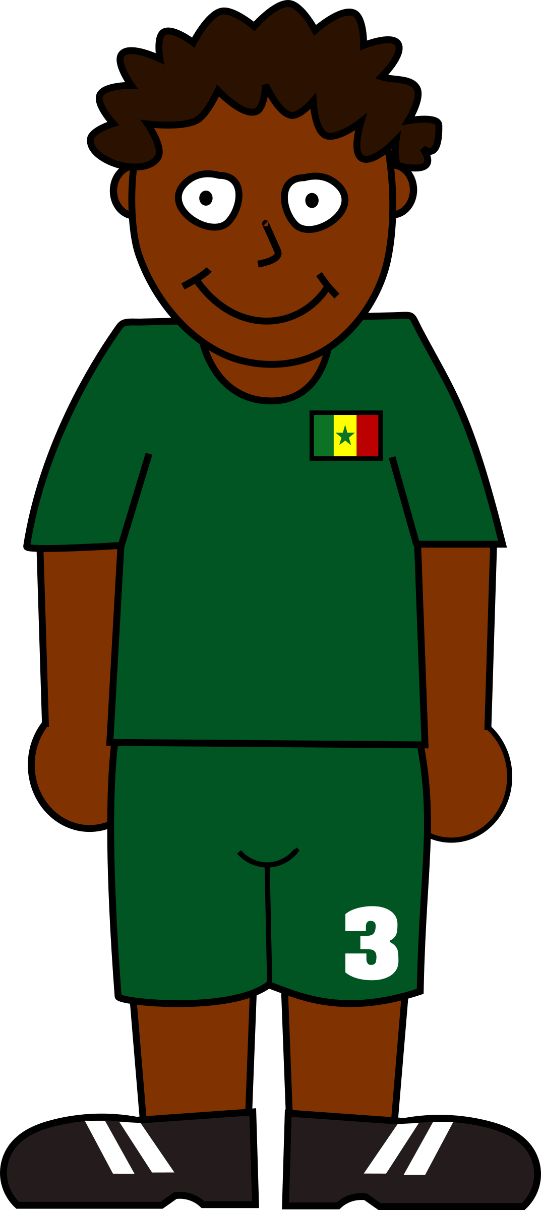 Green football player clipart picture Clipart - Football player senegal picture