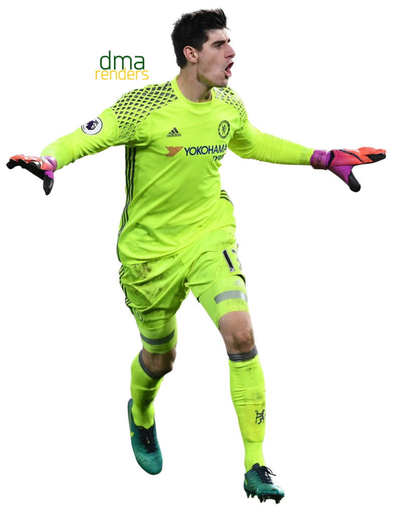 Green football player clipart clipart black and white Thibaut Courtois by dma365 on DeviantArt clipart black and white