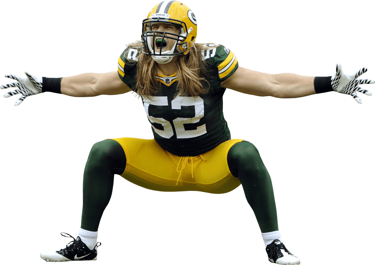 Packers football clipart vector free Green Bay Packers Player Shouting transparent PNG - StickPNG vector free