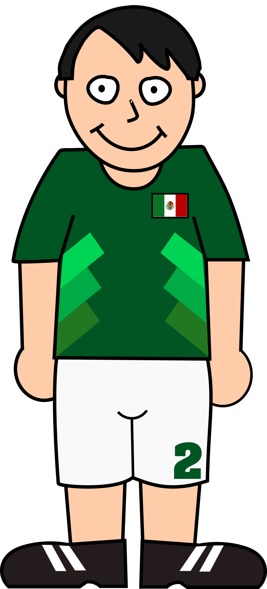 Green football player clipart svg black and white Clipart - Football player mexico svg black and white