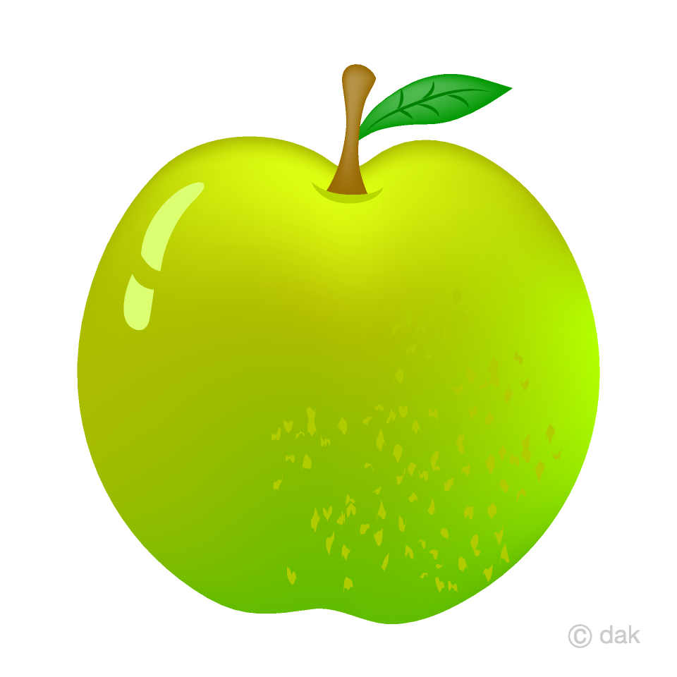 Green fruit clipart image library download Fresh Green Apple Clipart Free Picture|Illustoon image library download