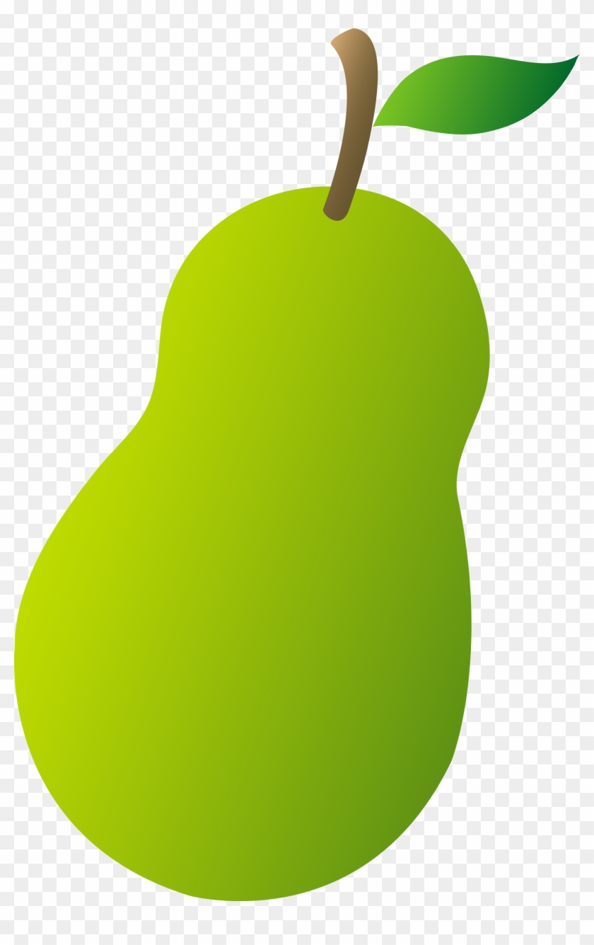 Green fruit clipart picture black and white stock Pear Cartoon Clipart - Clipart Green Fruits And Vegetables, HD Png ... picture black and white stock