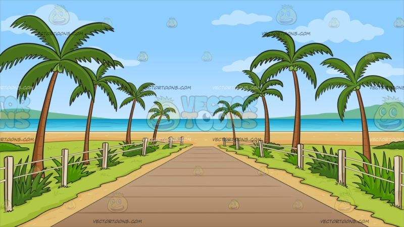 Green grass surrounded by water in clipart