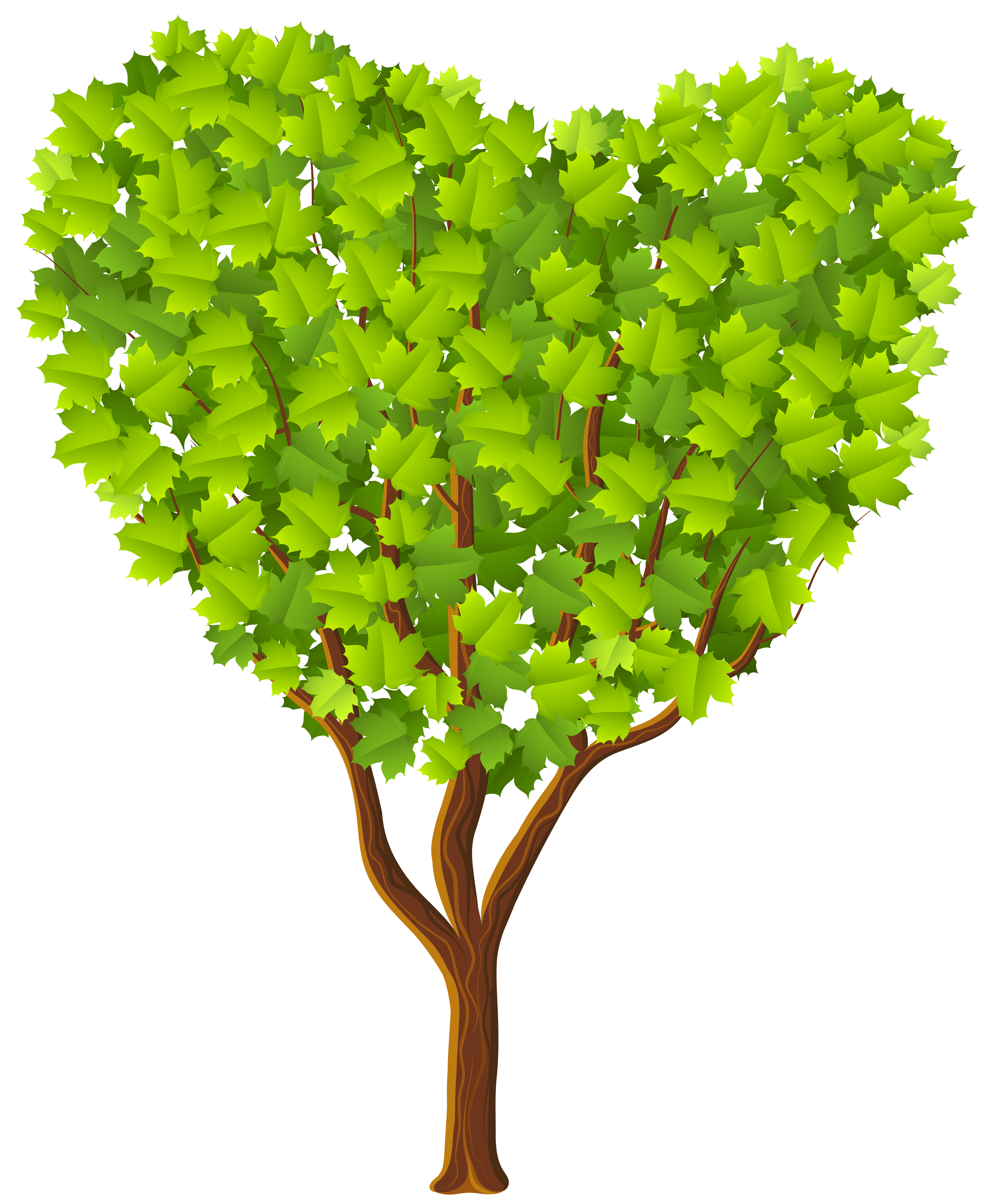 Green Heart Tree Transparent PNG Image | Gallery Yopriceville ... jpg black and white