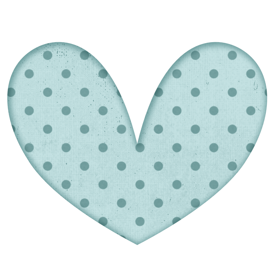 Turquoise heart clipart picture black and white stock Free Polka Dot Heart Digital ClipArt - Karen Cookie Jar picture black and white stock