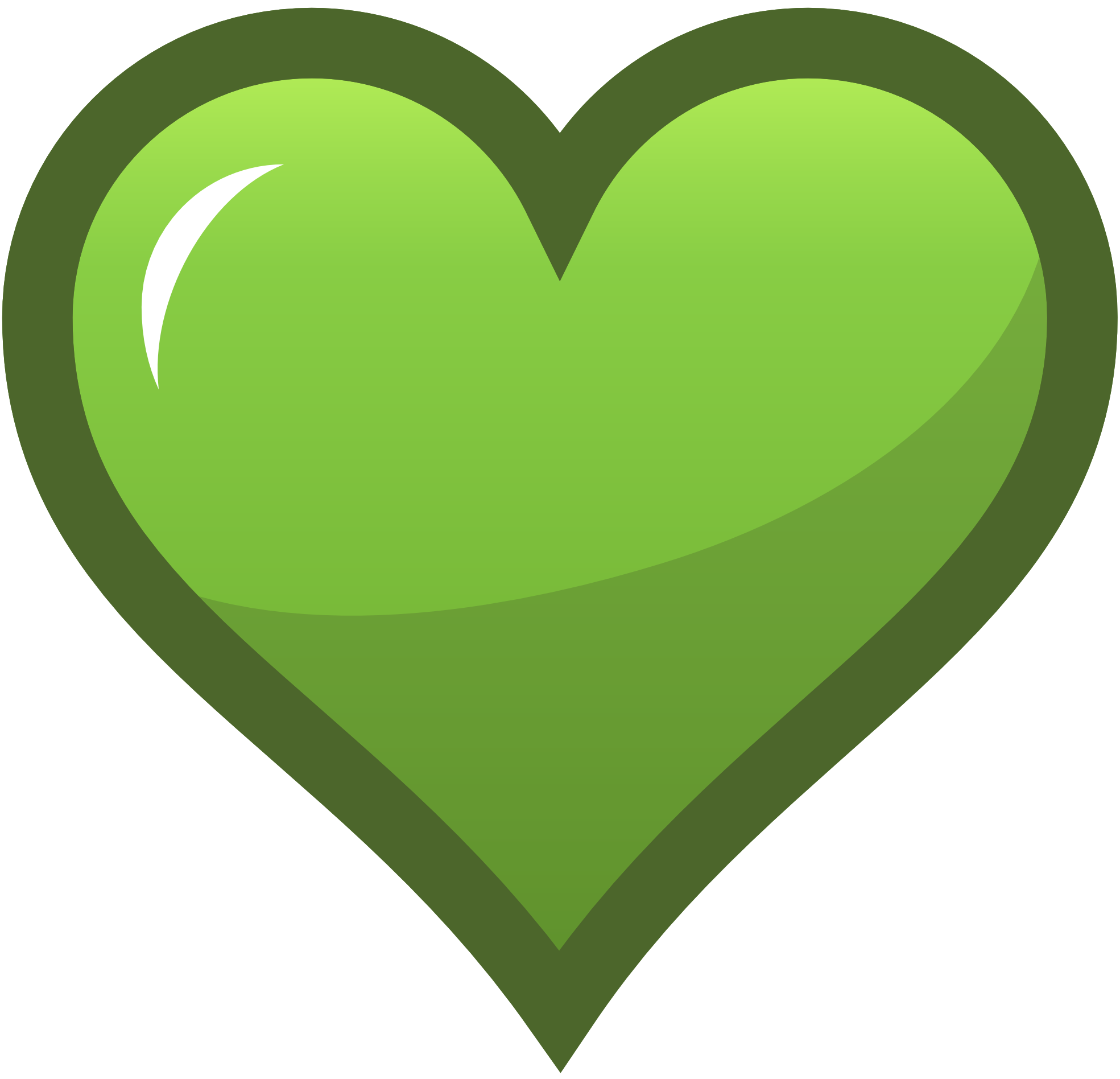 Lime green rose with heart clipart image freeuse download yellowgreen heart | Green Heart Icon OCAL Favorites Icon Selected ... image freeuse download