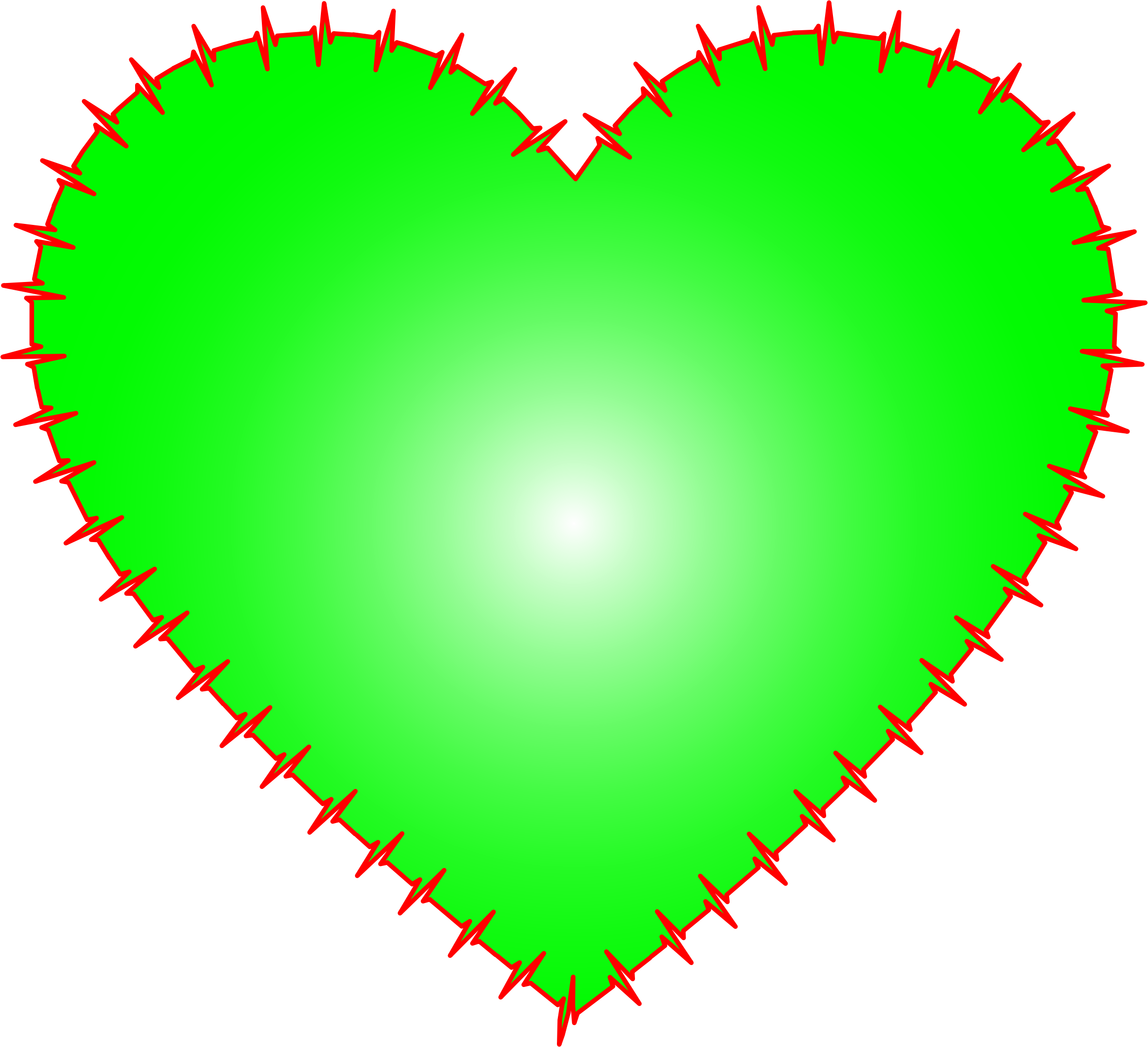 Solid heart clipart png stock Clipart - Heart EKG Rhythm Green png stock
