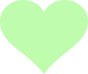 Green hearts clipart picture royalty free library Light Green Heart Clip Art at Clker.com - vector clip art online ... picture royalty free library