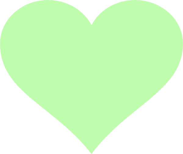 Green hearts clipart vector black and white download Light Green Heart Clip Art at Clker.com - vector clip art online ... vector black and white download