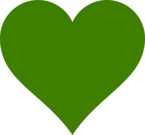 Green hearts clipart black and white Solid Green Heart Clip Art at Clker.com - vector clip art online ... black and white