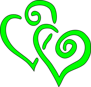 Green hearts clipart clip freeuse download Big Lime Green Hearts Clip Art at Clker.com - vector clip art ... clip freeuse download