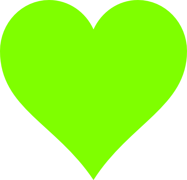 Green hearts clipart image library library Lime Green Heart Clip Art at Clker.com - vector clip art online ... image library library