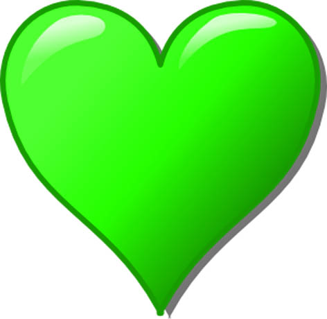 Green hearts clipart clipart freeuse Heart clipart green - ClipartFest clipart freeuse