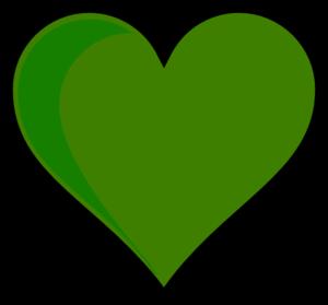Green hearts clipart image free Green Heart Clip Art at Clker.com - vector clip art online ... image free