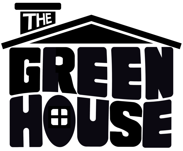 Green house black clipart graphic about — The Green House graphic
