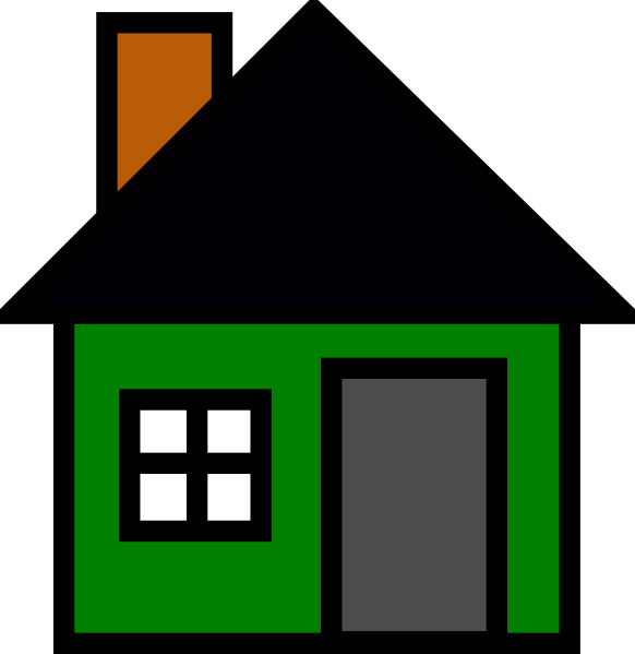 House roof clipart graphic royalty free Green House Clip Art at Clker.com - vector clip art online, royalty ... graphic royalty free