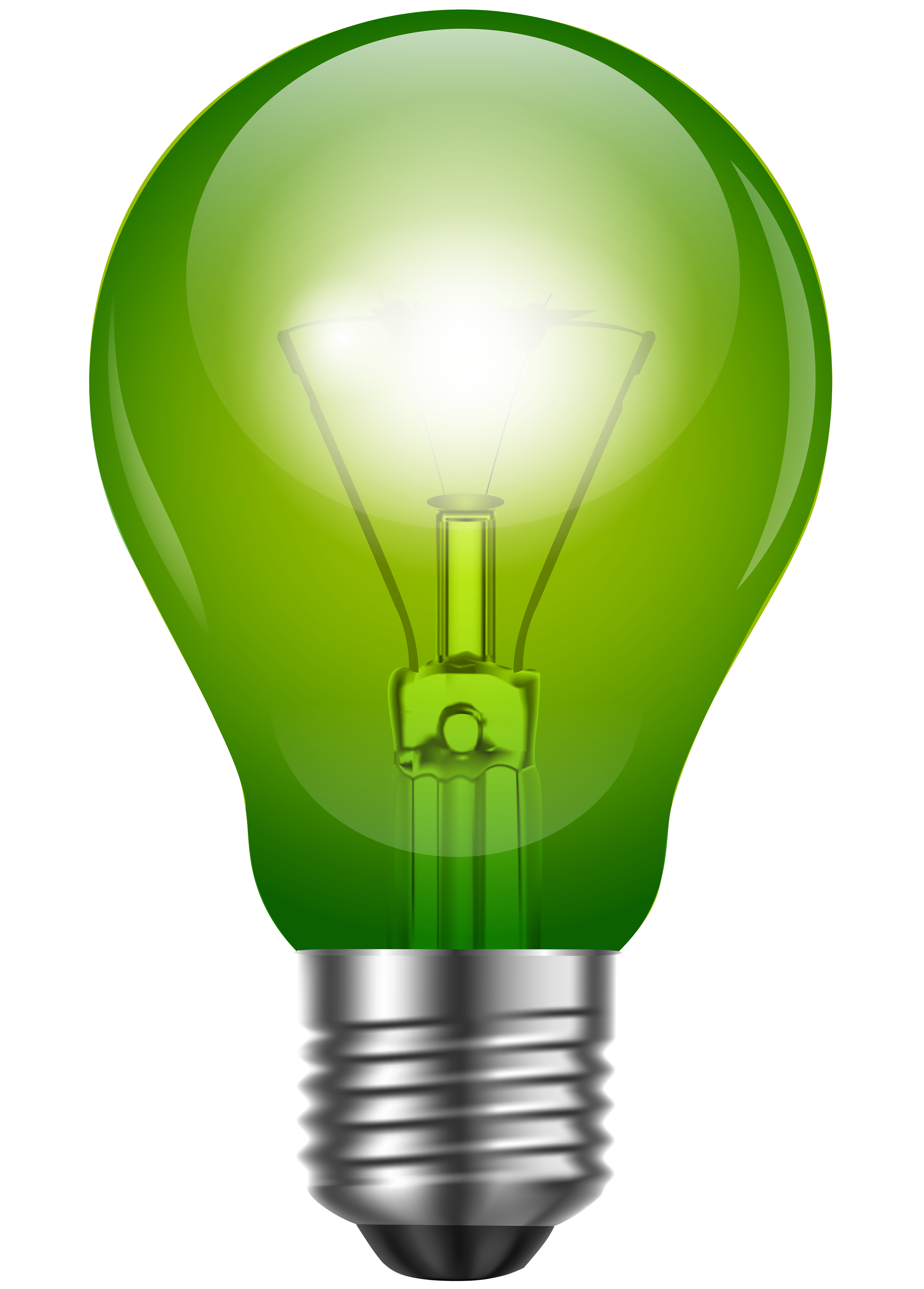 Green light clipart banner royalty free Green Light Bulb PNG Clip Art - Best WEB Clipart banner royalty free