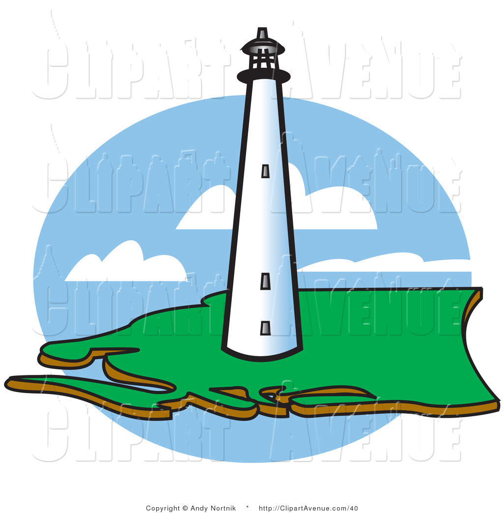 Green light house clipart vector free Avenue clipart of a coastal lighthouse by andy nortnik #40 ... vector free