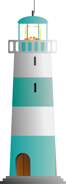 Green light house clipart clip freeuse stock Turquoise And White Lighthouse Clip Art at Clker.com - vector clip ... clip freeuse stock