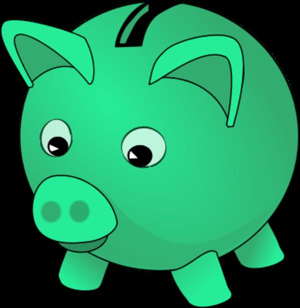 Green piggy bank clipart vector Green piggy bank clipart - ClipartFest vector
