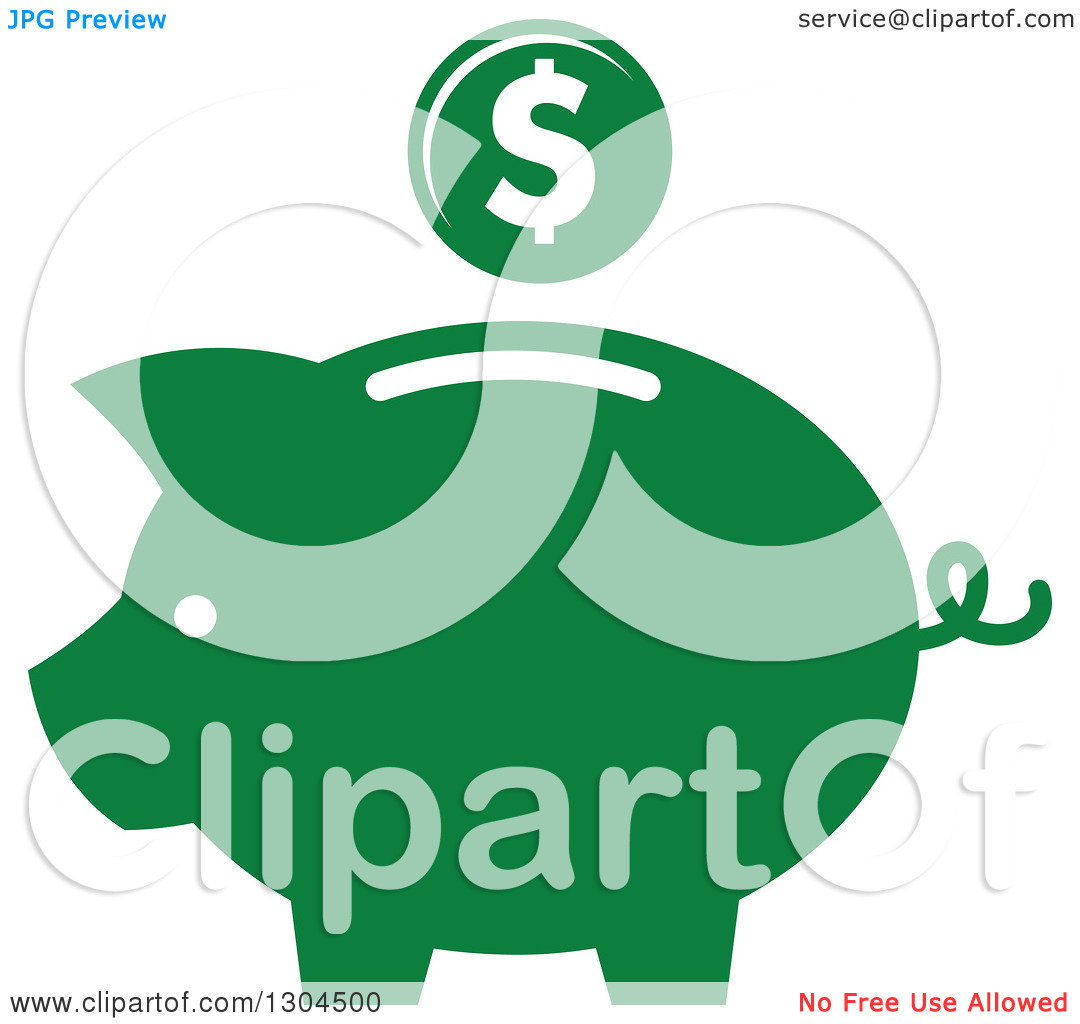 Green piggy bank clipart clip art Clipart of a Green Piggy Bank and Coin Icon - Royalty Free Vector ... clip art