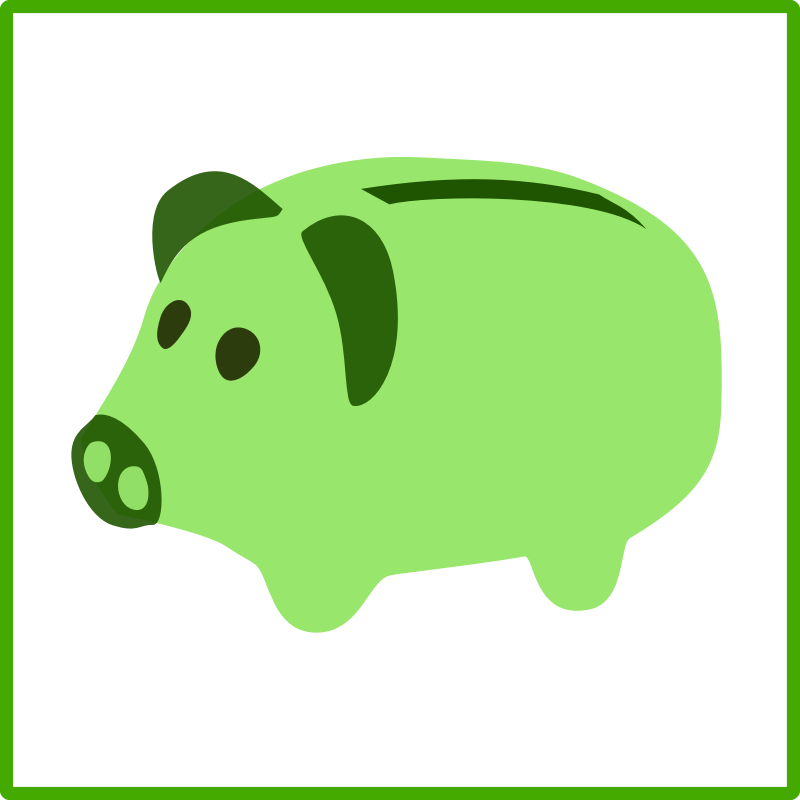 Green piggy bank clipart image royalty free Green Piggy Bank Icon image royalty free