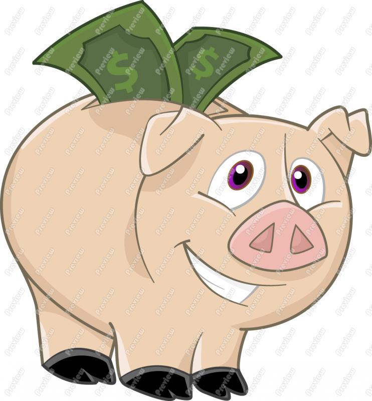 Green piggy bank clipart picture stock Cartoon piggy bank clipart - ClipartFest picture stock