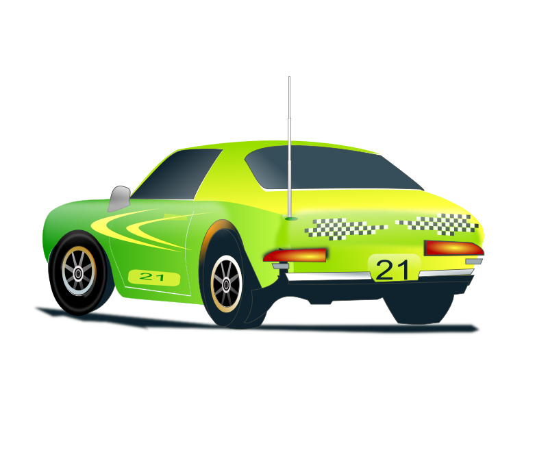 Green race car clipart picture library download Clipart - rally car 3 picture library download