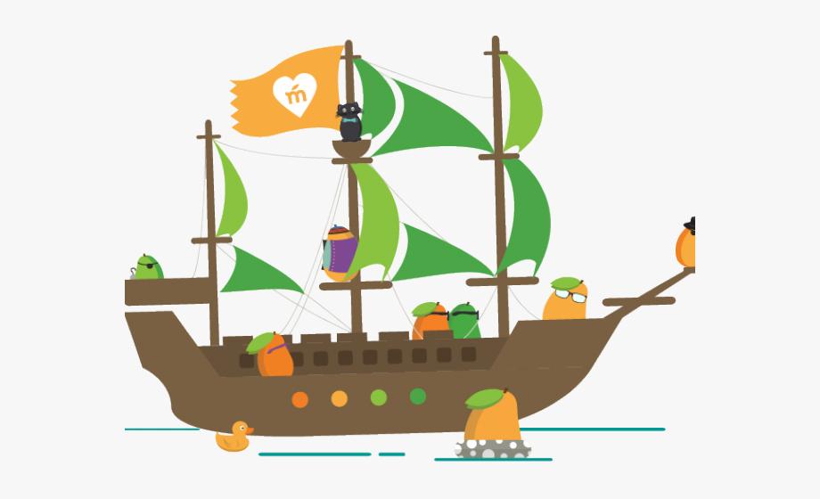 Green ship clipart clip art freeuse stock Sailing Ship Clipart Mango - Mango Talk Like A Pirate #718631 - Free ... clip art freeuse stock