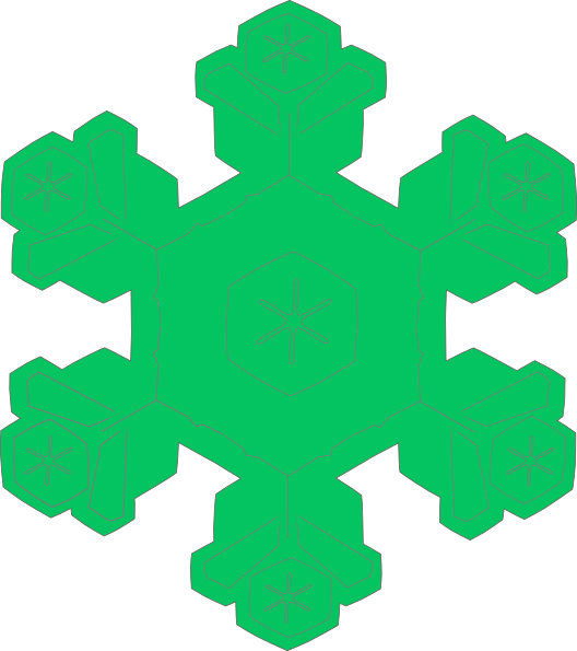 Green snowflake clipart jpg black and white library Green Snowflake Clip Art at Clker.com - vector clip art online ... jpg black and white library