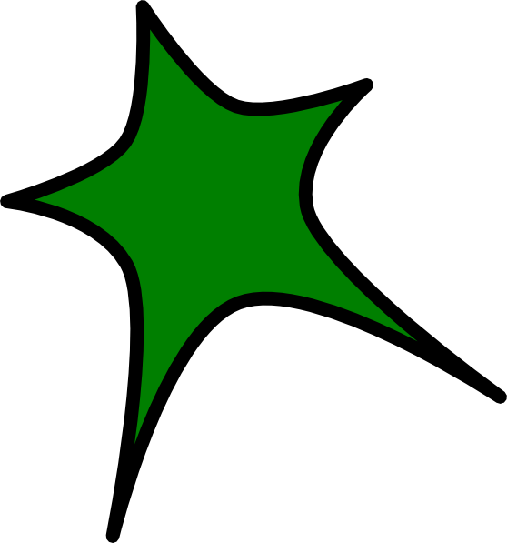 Green star clipart image transparent library Green Star Clip Art at Clker.com - vector clip art online, royalty ... image transparent library