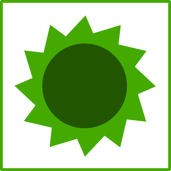 Green sun clipart svg black and white download Green Sun Clip Art at Clker.com - vector clip art online, royalty ... svg black and white download