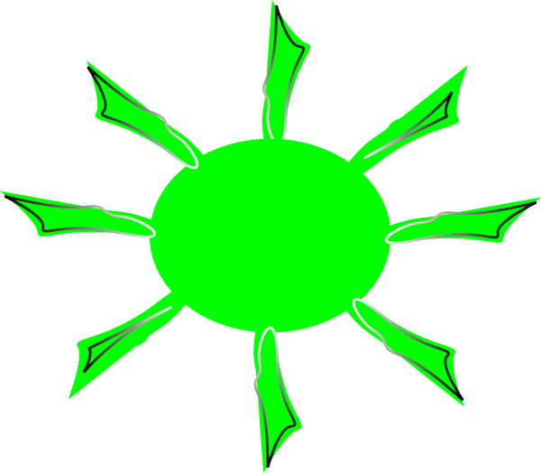 Green sun clipart clip art royalty free stock Green Radiating Sun Clip Art at Clker.com - vector clip art online ... clip art royalty free stock