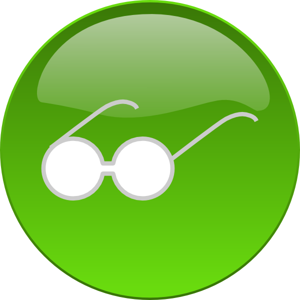 Green sun glasses clipart graphic freeuse Eye Glasses Button Clip Art at Clker.com - vector clip art online ... graphic freeuse
