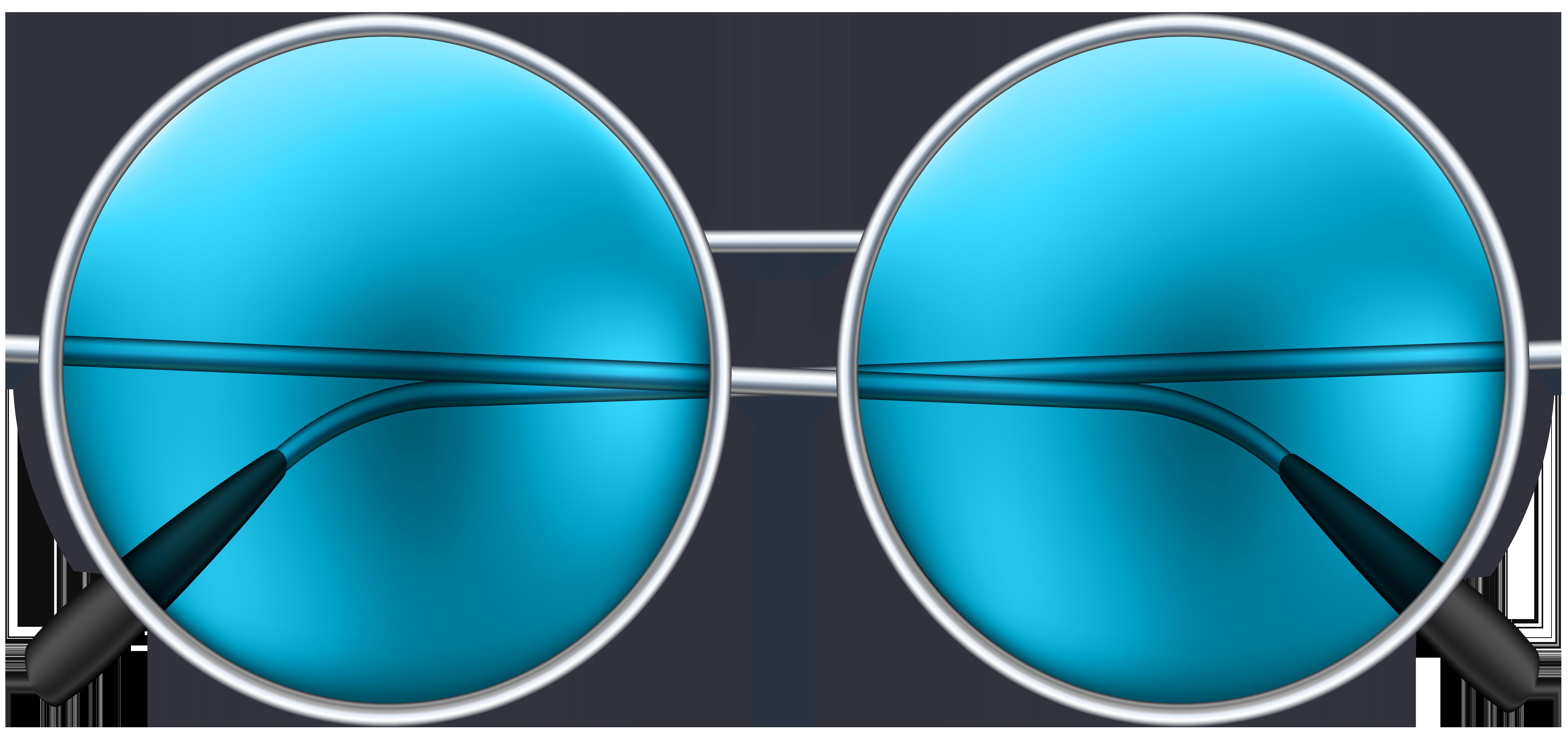 Green sun glasses clipart clip art black and white Round Sunglasses Blue PNG Clip Art Image | Gallery Yopriceville ... clip art black and white