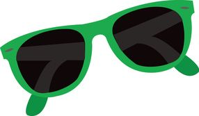 Green sunglasses clipart image black and white library Sunglass clipart green - 88 transparent clip arts, images and ... image black and white library