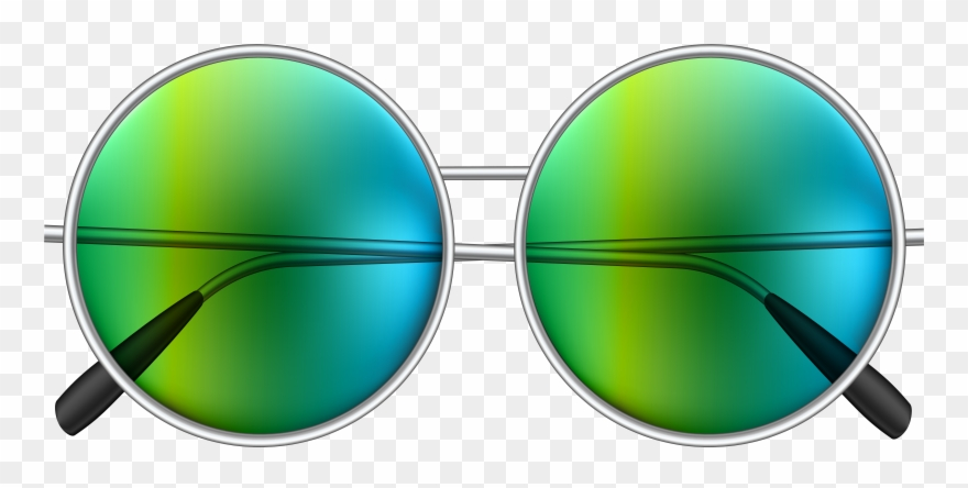 Green sunglasses clipart image Hippie Sunglasses Png Clipart (#143285) - PinClipart image